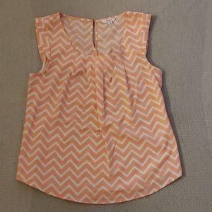 Pink Chevron blouse